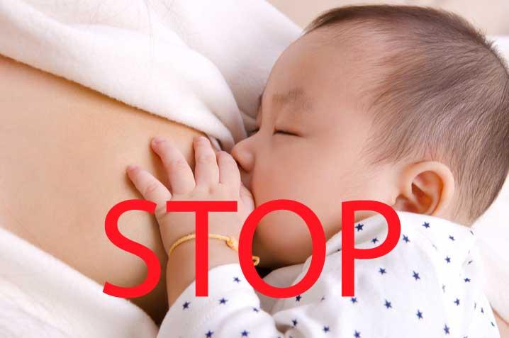 Ammestop, baby der ammer, men skal stoppe amningen
