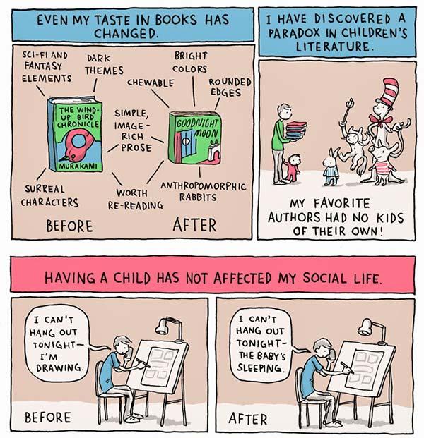 Sjov tegneserie om det at være forældre