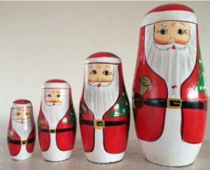 Julemænd som børnene kan lege med