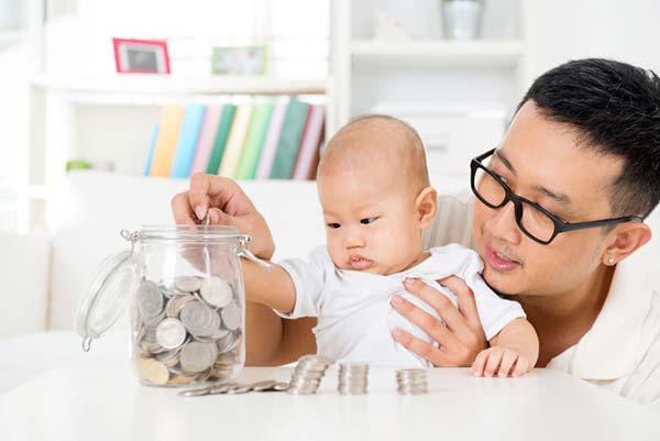 Matematik baby sammen med far