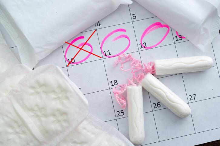 Kalender der viser sidste menstruations første dag