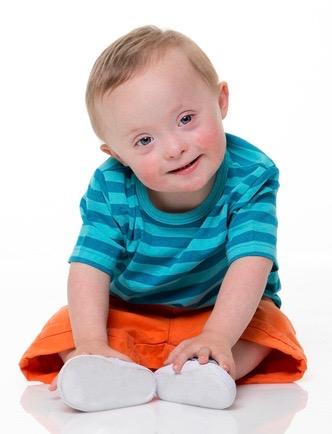 barn med Downs syndrom