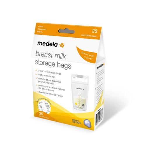 Poser til opbevaring af brystmælk fra Medela