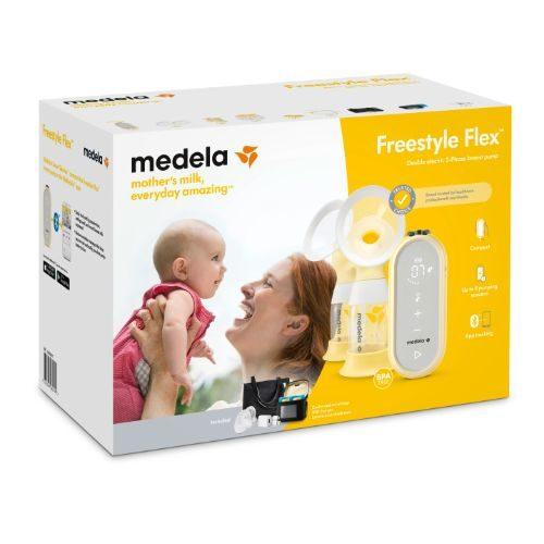 Brystpumpe, elektrisk dobbeltpumpe Freestyle Flex fra Medela.