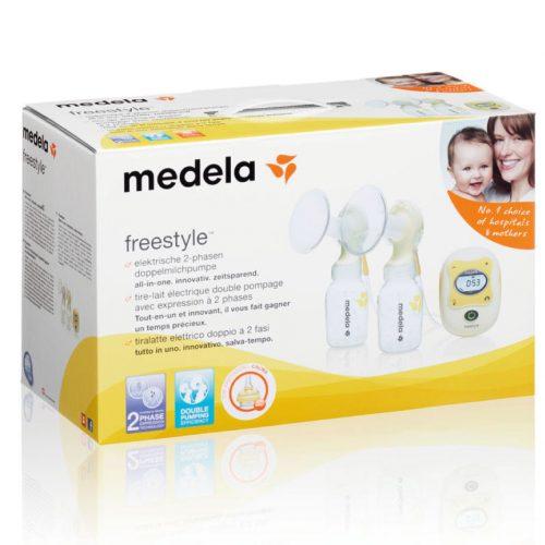 Brystpumpe, elektrisk dobbeltpumpe Freestyle fra Medela.