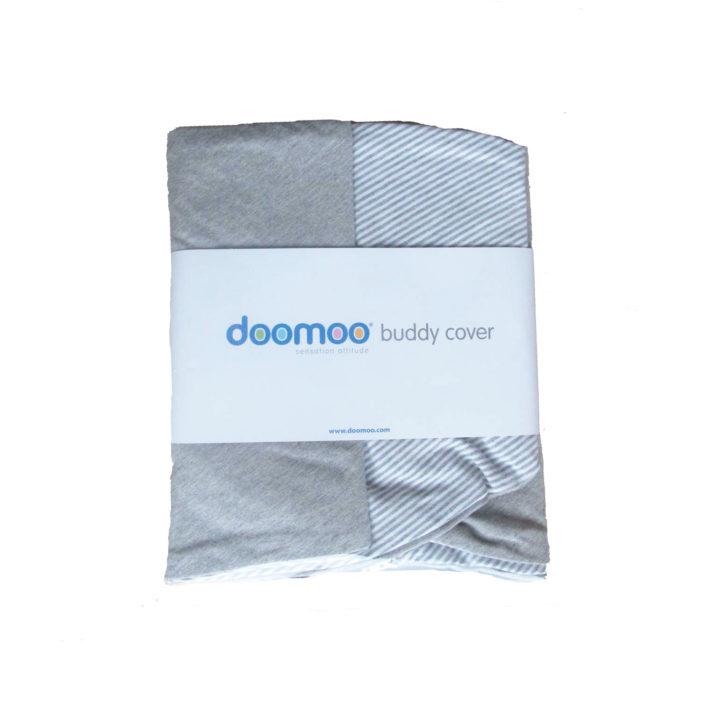 Gå og hvid stribet betræk til doomoo ammepude