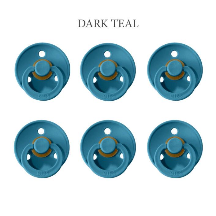 Bibs Colour Dark Teal, 6 latex sutter i str. 2