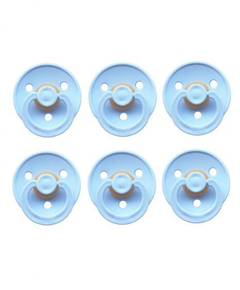 Bibs sutter 6 stk blå lys