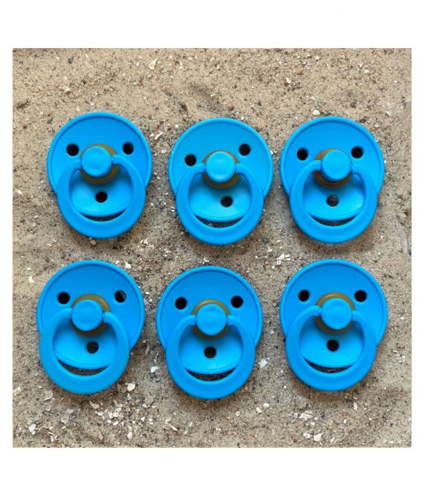 Sutter Bibs blå – azur (6 stk)