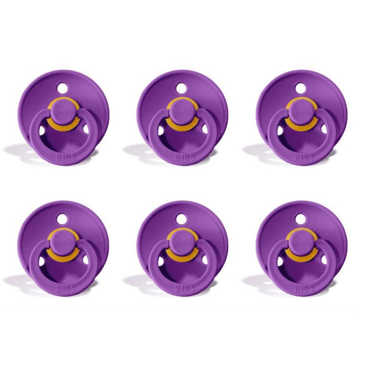 Sutter Bibs Colour – Purple (6 stk) str. 2