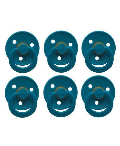 Bibs sutter 6 stk blå – petroleum