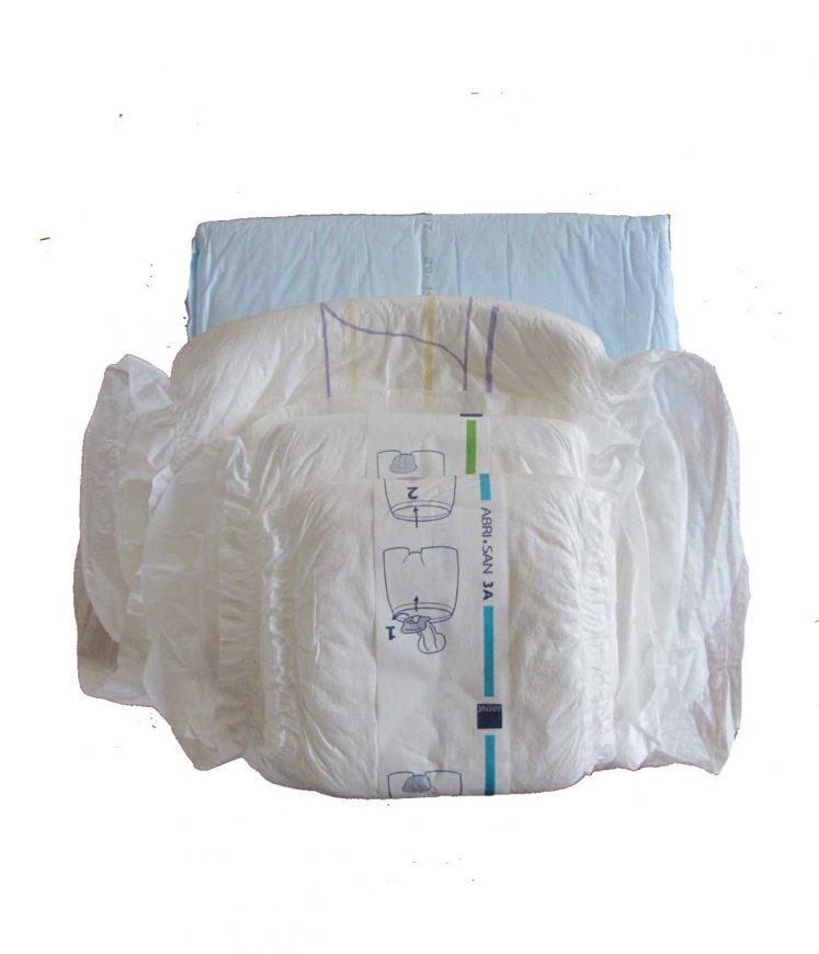 Fødepakke – bind, blå stykker, netunderbukser =