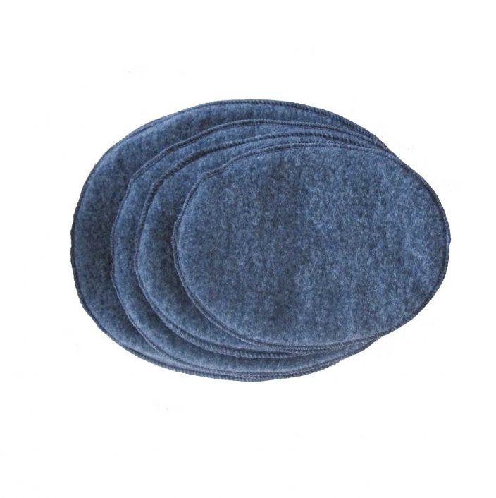 Brystvarmere i uld, et sæt i koksgrå (4 størrelser)