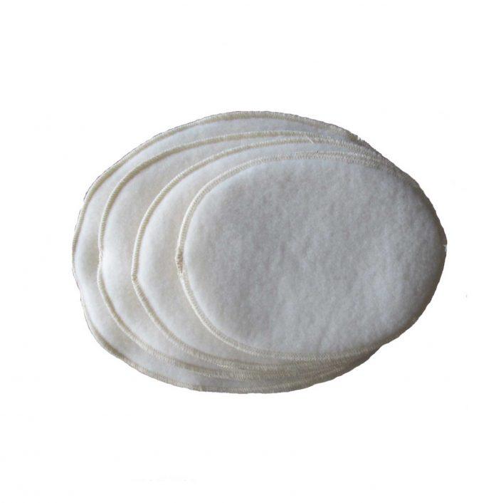 Brystvarmere i uld, et sæt i råhvid (4 størrelser)