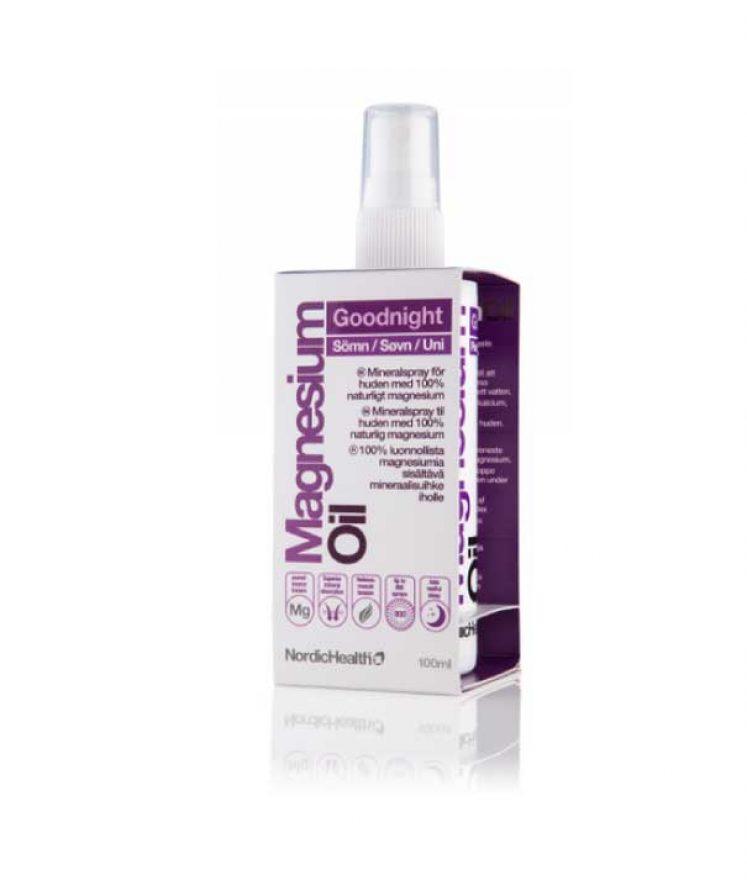 Magnesium spray – til bedre søvn, kramper og forstoppelse fra Nordic Health