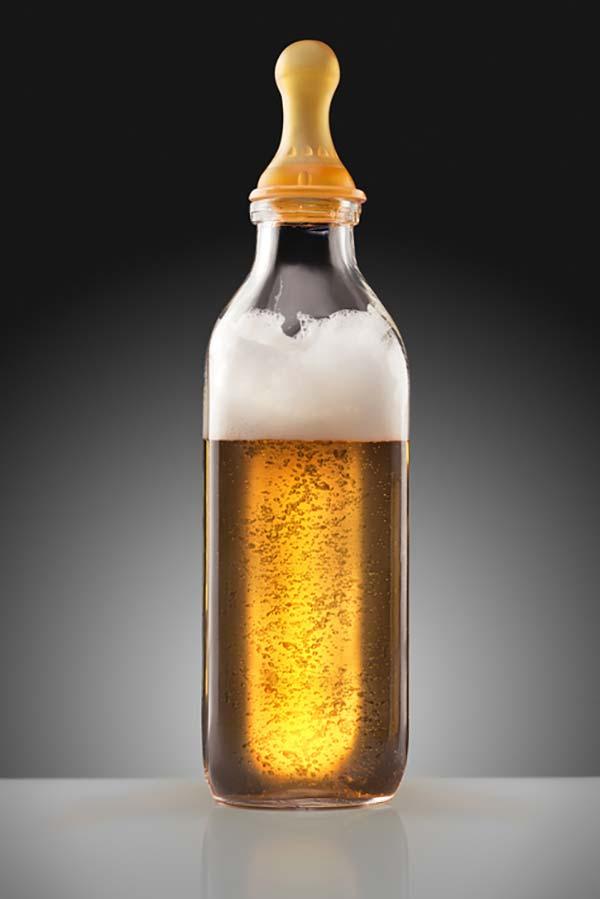 øl på sutteflaske, kan øl hjælpe amningen?