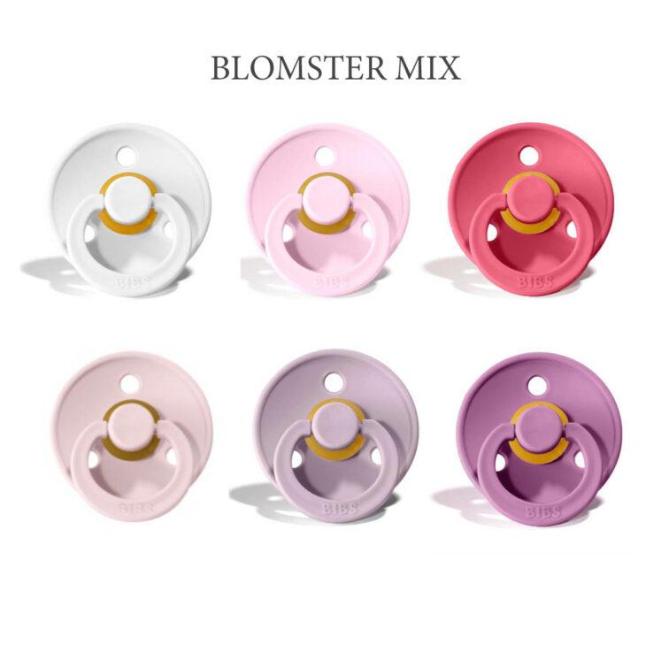 Bibs Colour 6 stk Blomster Mix – latex sutter i str. 2