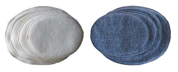 Brystvarmere i begge farver, koksgrå og natur.