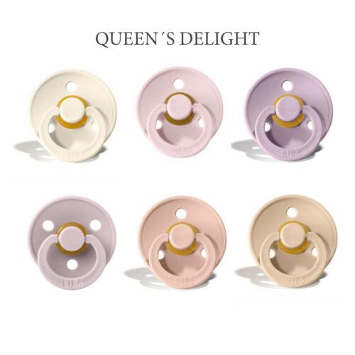 Bibs Colour 6 stk Queen's Delight – latex sutter i str. 2