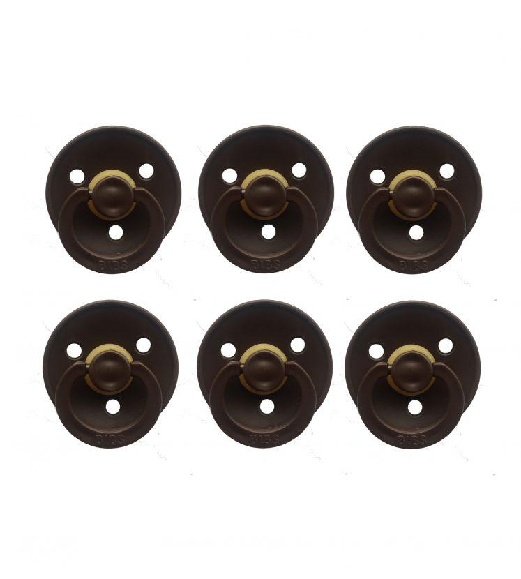 Sutter Bibs brun – chokolade (6 stk)