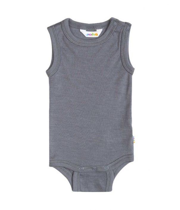 Undertrøje i uld/silke (body), grå fra Joha