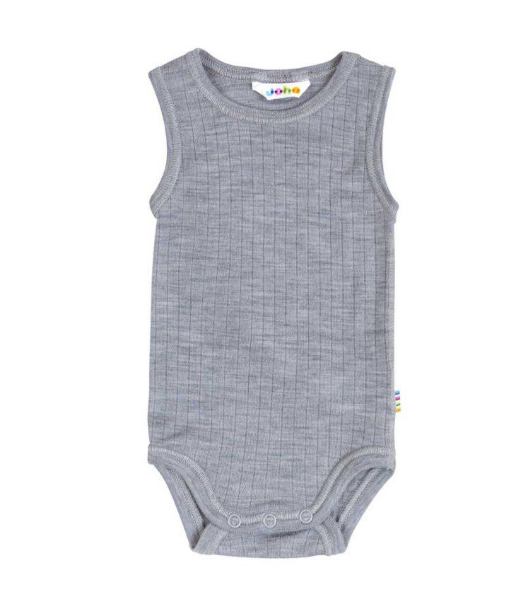 Undertrøje i uld (body), grå fra Joha