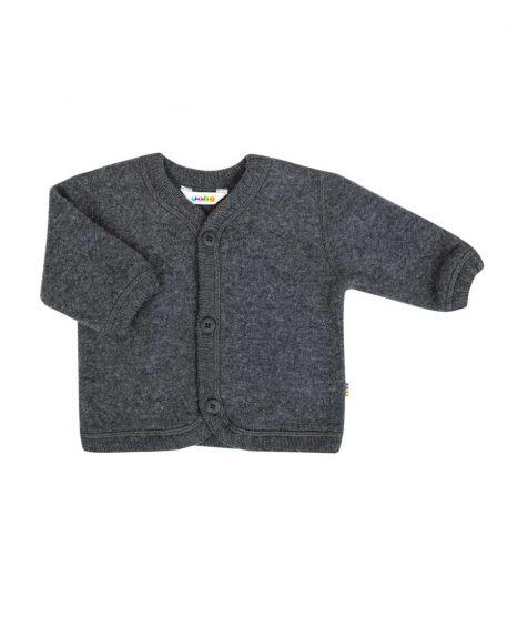 Cardigan/ jakke i uld fleece, grå fra Joha