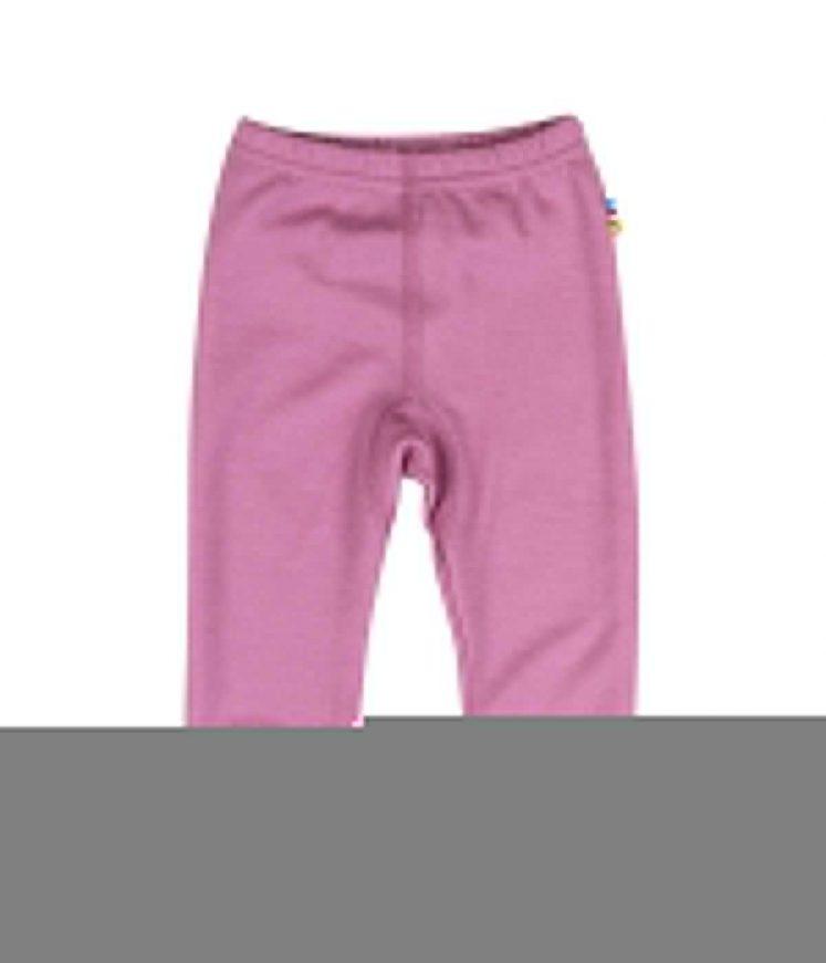 Bukser i uld/bambus, rosa fra Joha