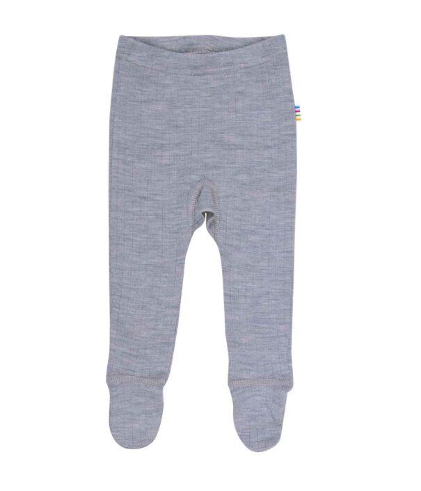 Bukser i uld med fod, grå fra Joha