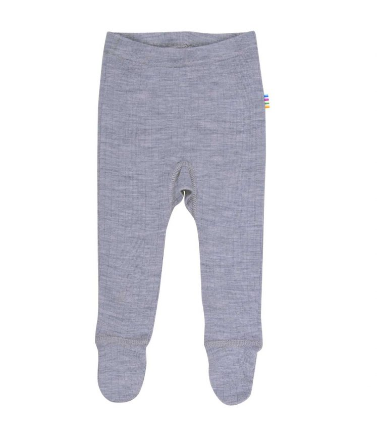 Bukser med fod i uld, grå fra Joha