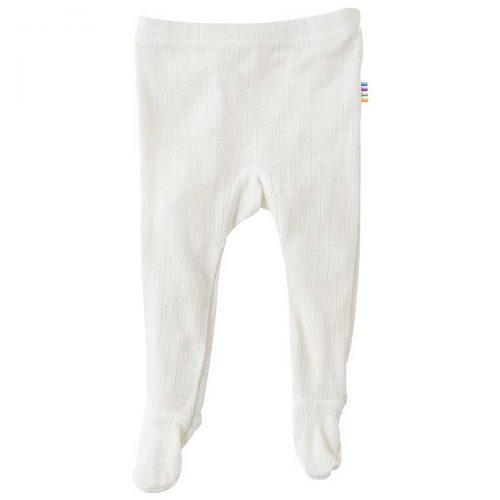 Bukser/leggings i uld m. fod, natur fra Joha