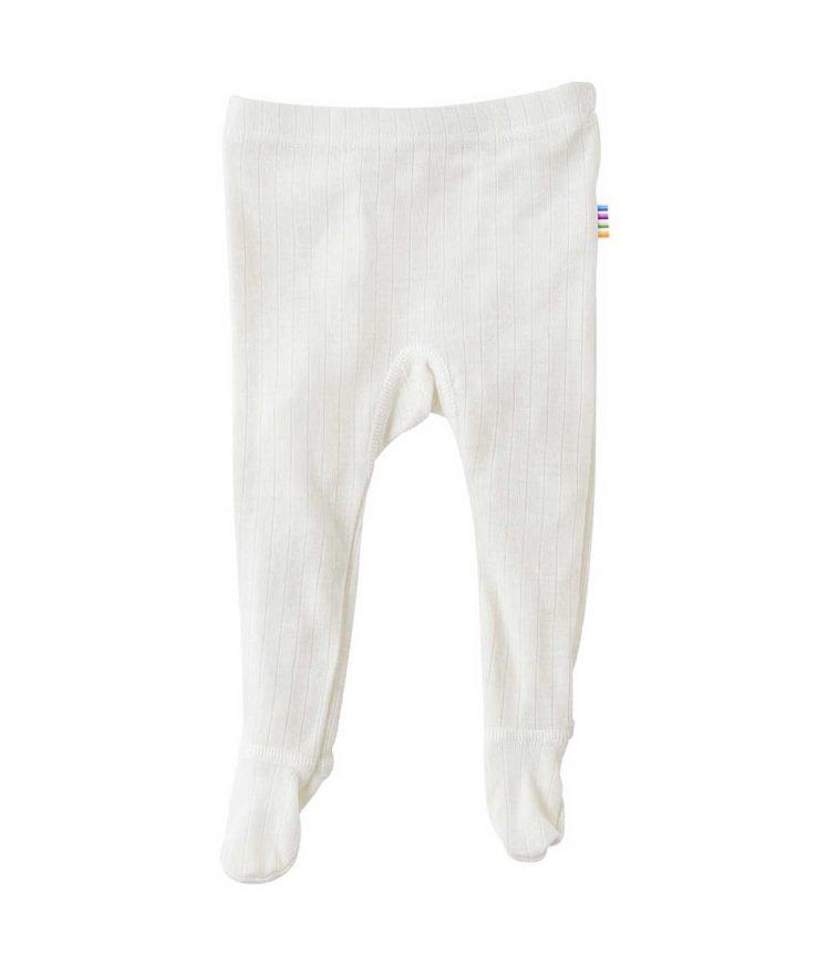 Bukser i uld med fod, natur fra Joha