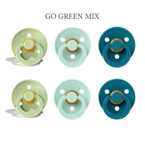 Bibs Colour 6 stk Go Green Mix (NYE FARVER) – latex sutter i str. 2
