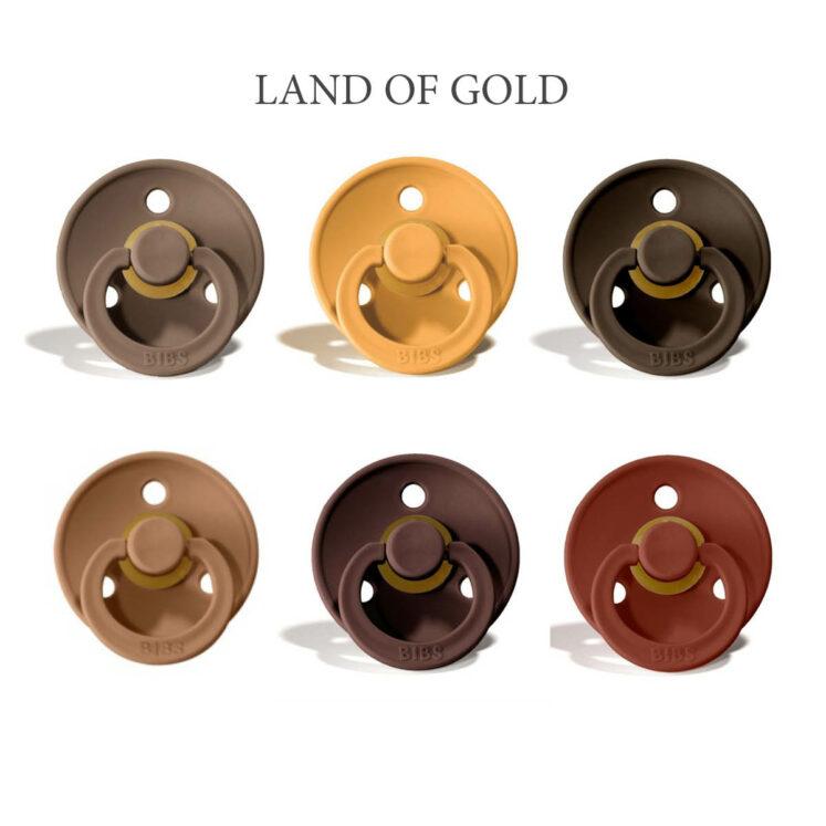 Bibs Colour 6 stk Land of Gold- latex sutter i str. 2