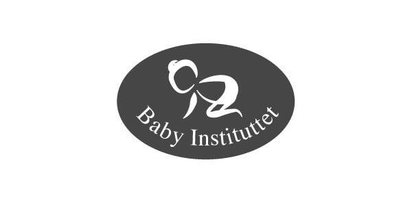 babyinstituttets logo på hvid baggrund