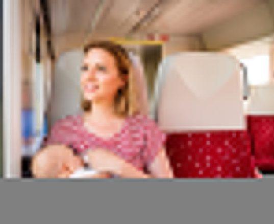 Kvinder der ammer i tog