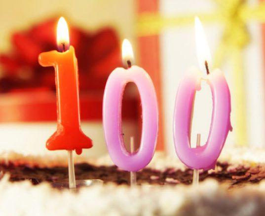Blog indlæg nr 100. Fødselsdagslys i tal.