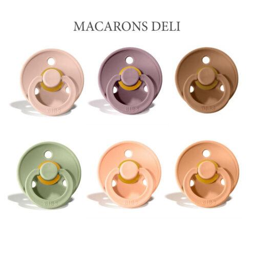 Bibs Colour 6 stk Macarons Deli – latex sutter i str. 2