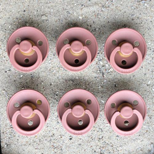 Sutter Bibs blush mørk / rosa mørk (6 stk)