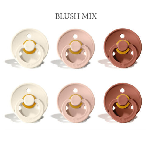 Bibs Colour 6 stk Girly Blush Mix – latex sutter i str. 2