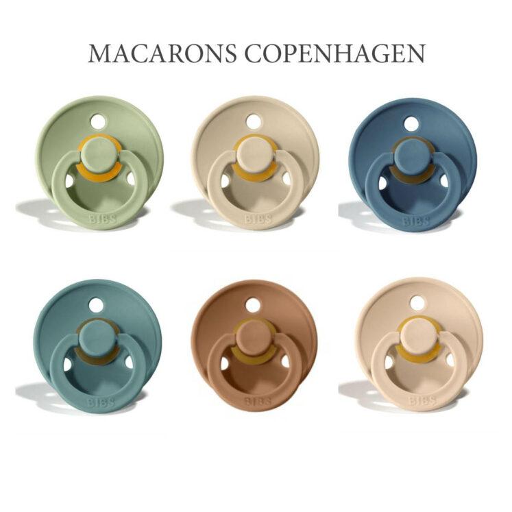 Bibs Colour 6 stk Macarons Copenhagen – latex sutter i str. 2