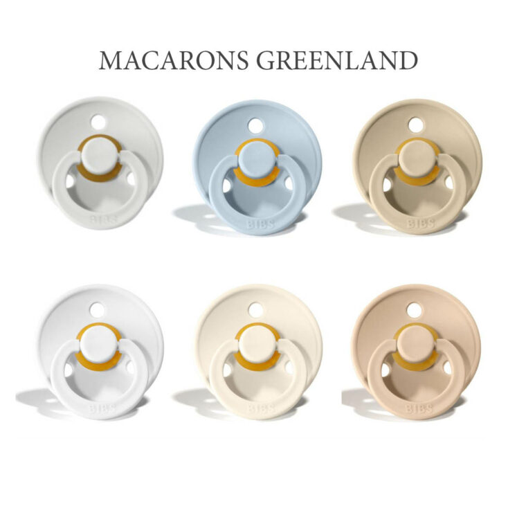 Bibs Colour 6 stk Macarons Greenland – latex sutter i str. 2