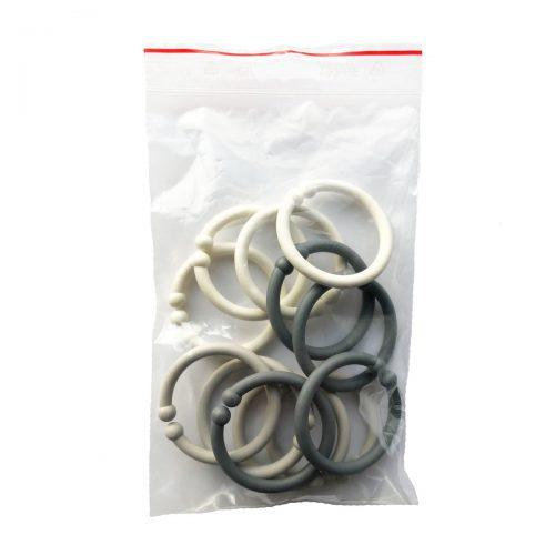 Loops lege ringe fra Bibs i koks, sand og elfenben (12 stk).