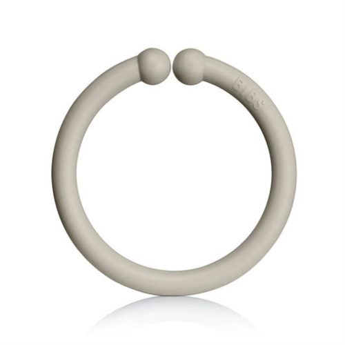Loops lege ringe fra Bibs i iron, sand og ivory (12 stk).