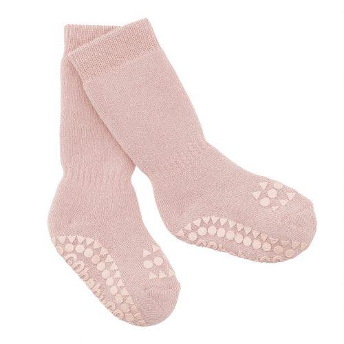 Strømpe non-slip i rosa fra Gobabygo