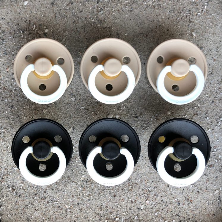 Bibs sutter 6 stk – natsut vanilje og sort