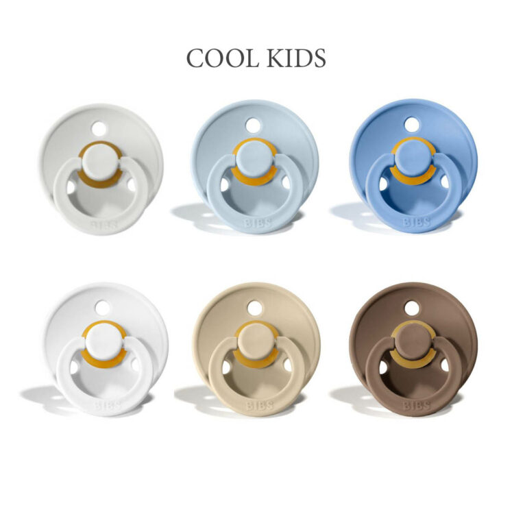 Bibs Colour 6 stk Cool Kids – latex sutter i str. 2