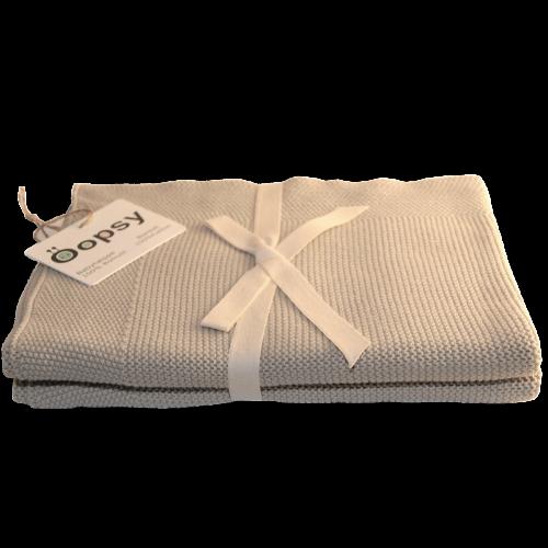 Babytæppe i ren bomuld, Sand fra Oopsy