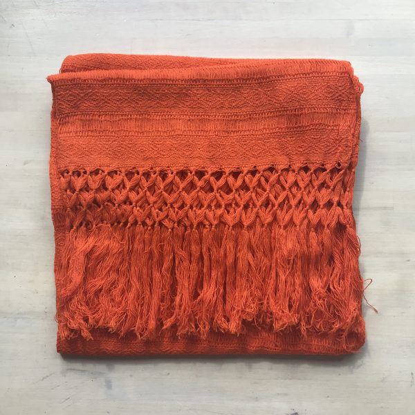Rebozo Sjal fra Mexico, Orange