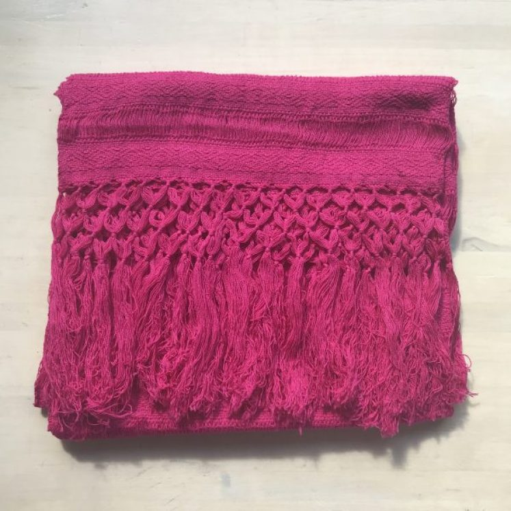 Rebozo Sjal fra Mexico, Pink